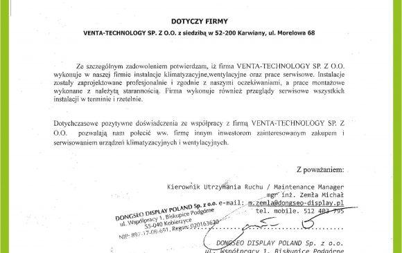 DONGSEO DISPLAY POLAND Sp. z o.o.